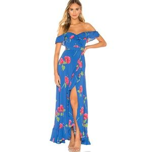 Flynn Skye Monica Maxi Dress In Deep Sea